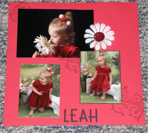 Leah scrapbook