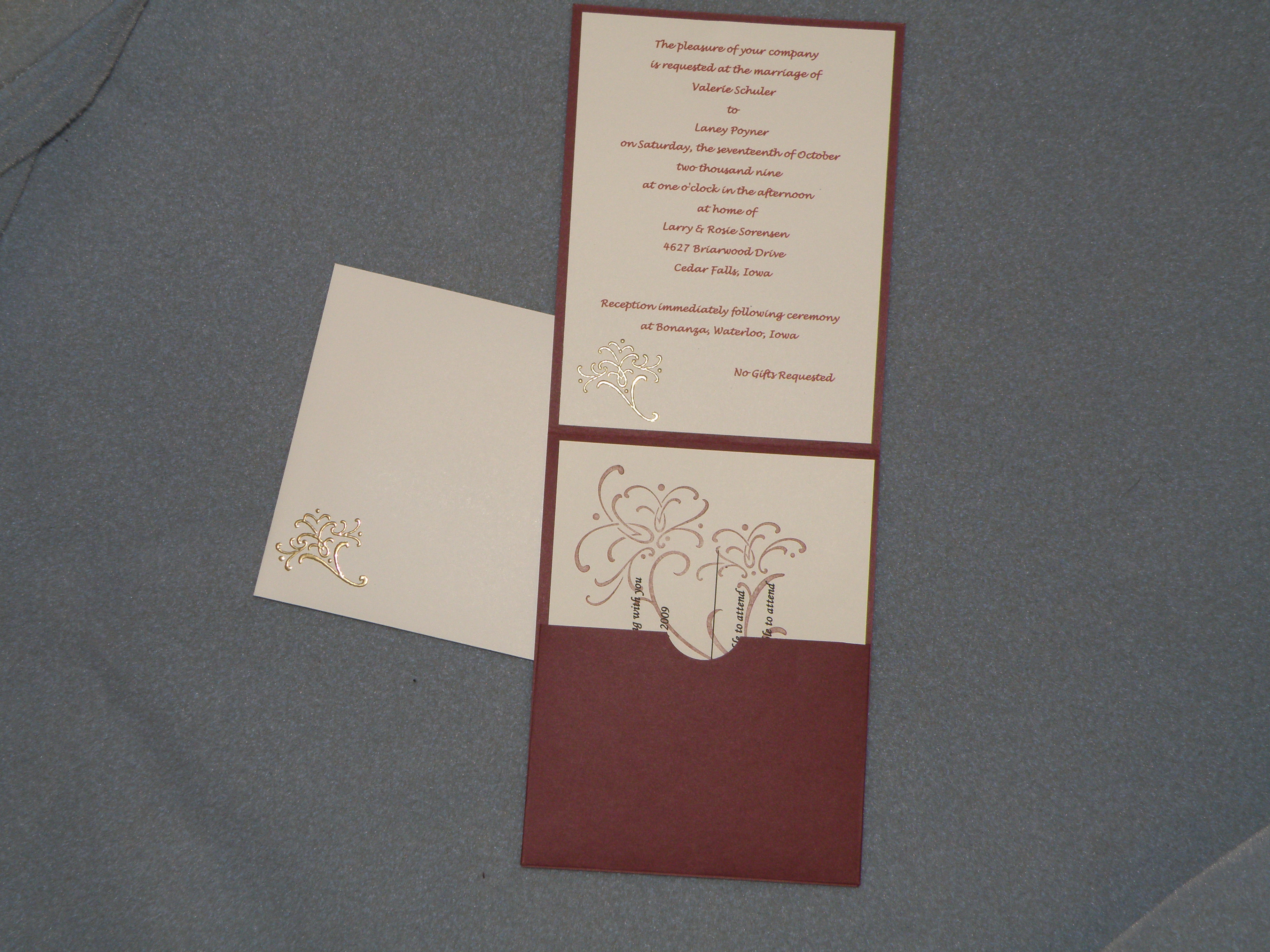 Wedding Invitations etc I made for my Girlfriend Stamp with Michele